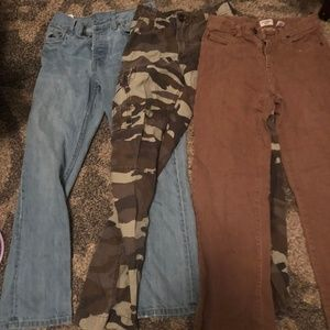 Boy's size 12 Lot of pants Lev'si, Gap, OshKosh